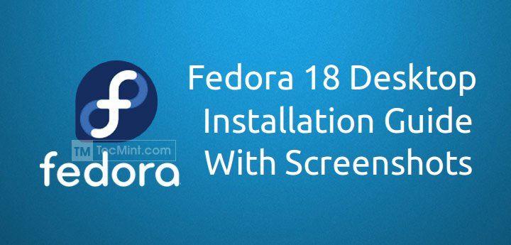Fedora 18 Desktop Installation