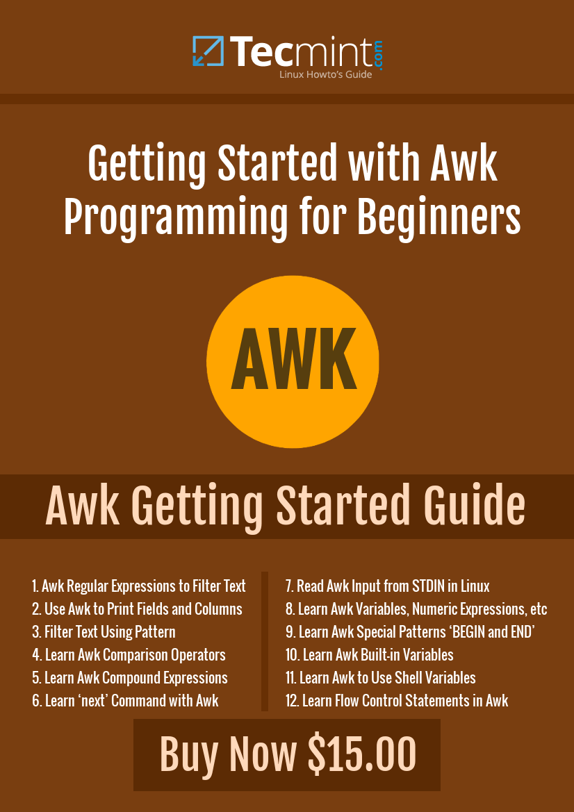 Awk Programming Book