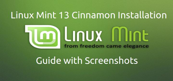Linux Mint 13 Cinnamon Desktop Installation