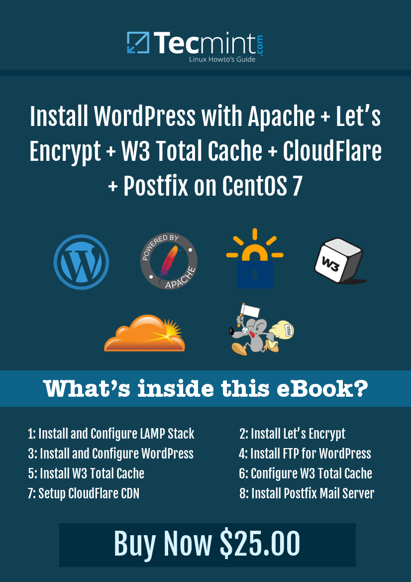 Setup WordPress with Apache + Let's Encrypt + W3 Total Cache + CloudFlare + Postfix on CentOS 7