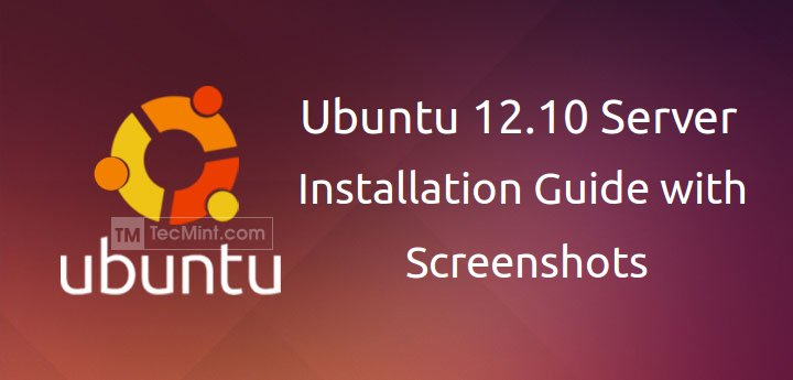 Ubuntu 12.10 Server Installation