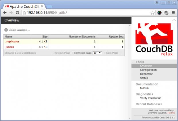 Apache CouchDB Dashboard