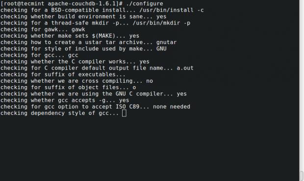 Configure Apache CouchDB