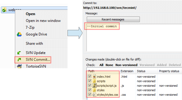 Deploy Files to Remote SVN Repository