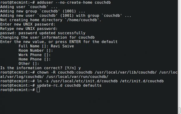 Setup CouchDB on Debian