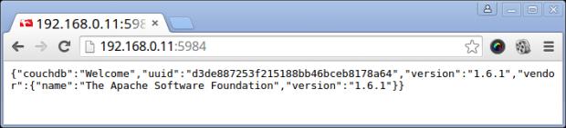 Verify Apache CouchDB Access