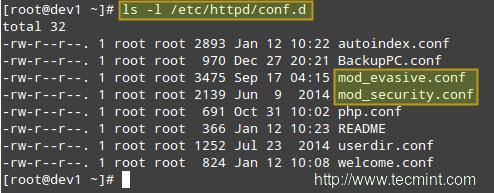 mod_security + mod_evasive Configurations