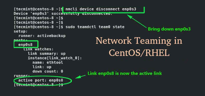 Create NIC Teaming in CentOS