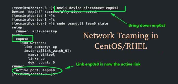 Create NIC Teaming in CentOS