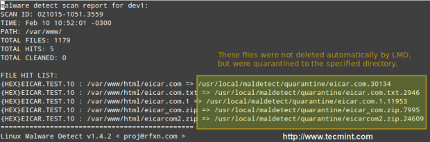 Linux Malware Scan Report