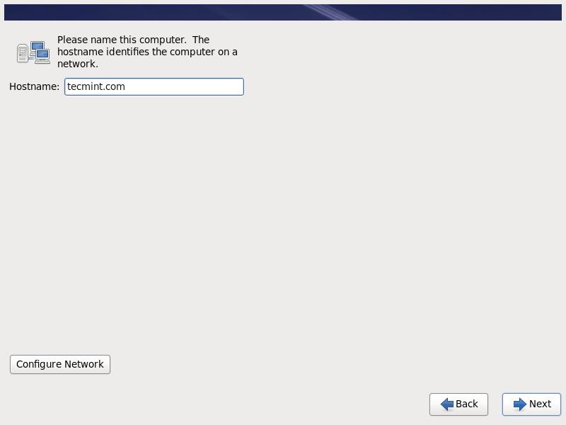 Set RHEL 6.10 Hostname