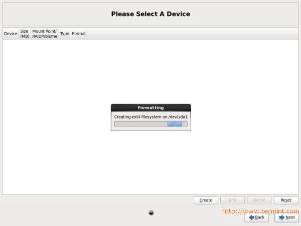 CentOS 6.X Disk Formatting
