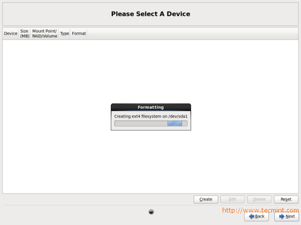 CentOS 6.3 Disk Formatting