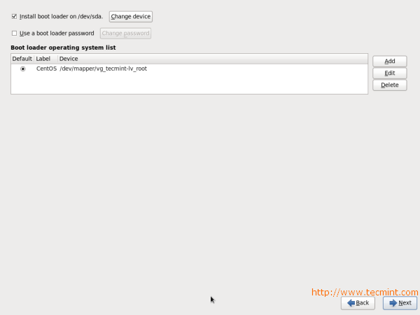 CentOS 6.3 Boot Loader Password