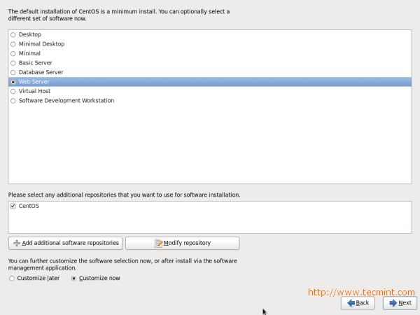 CentOS 6.3 Package Selection