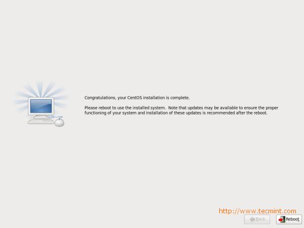 CentOS 6.3 Installation Completes