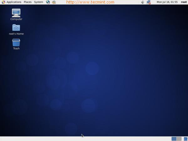 CentOS 6.3 Desktop Screen