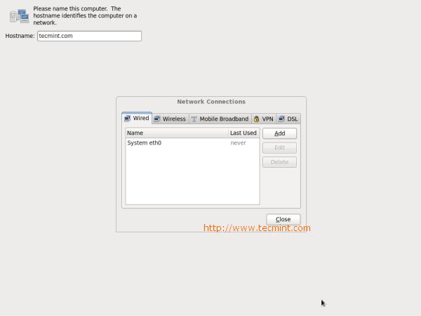 CentOS 6.3 Network Setup
