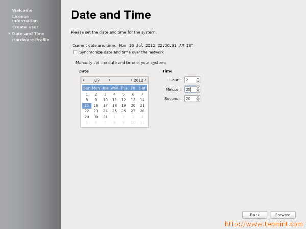 Fedora 17 Set Date and Time