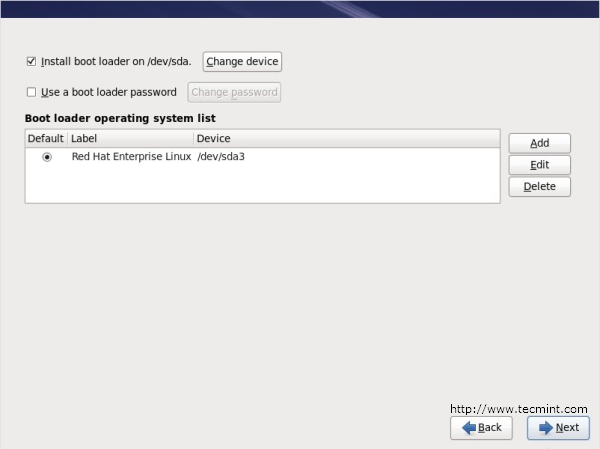 Set RHEL 6 boot loader password