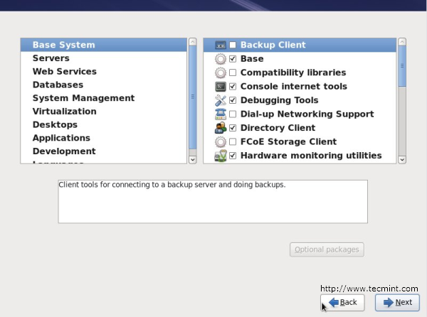 RHEL 6 Packages Selection