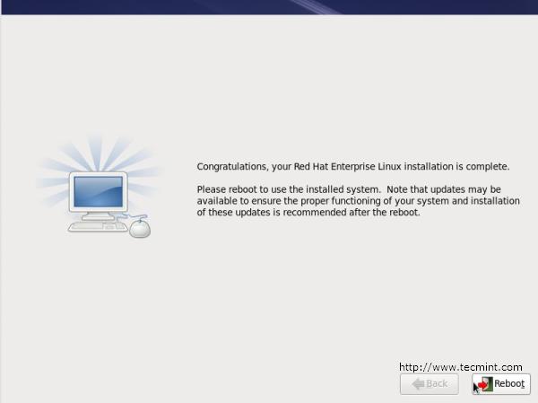Reboot RHEL 6 Installation