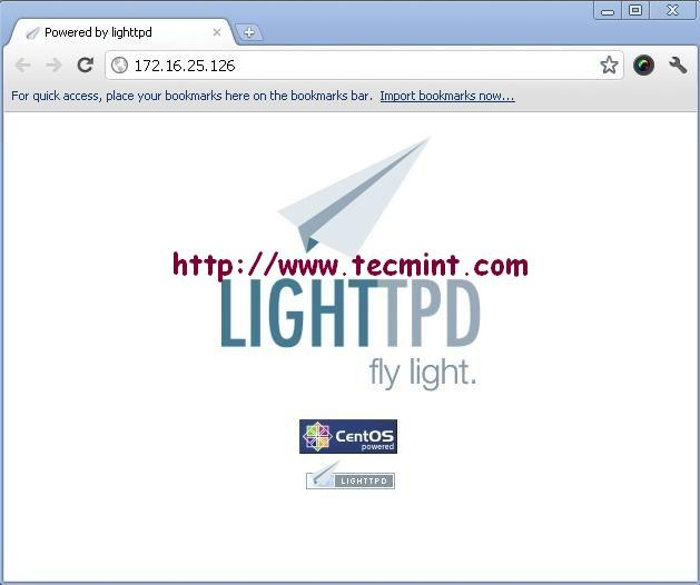 Lighttpd Welcome Screen on CentOS 6.3