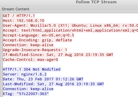 Monitor TCP Conversation