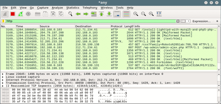 Wireshark - Analyze Network Traffic in Linux