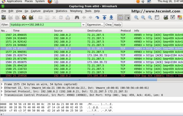 Wireshark - Filter by && (AND) condition