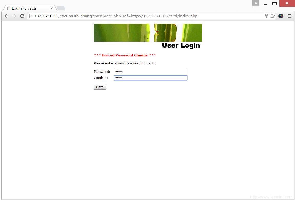 Set Cacti Password
