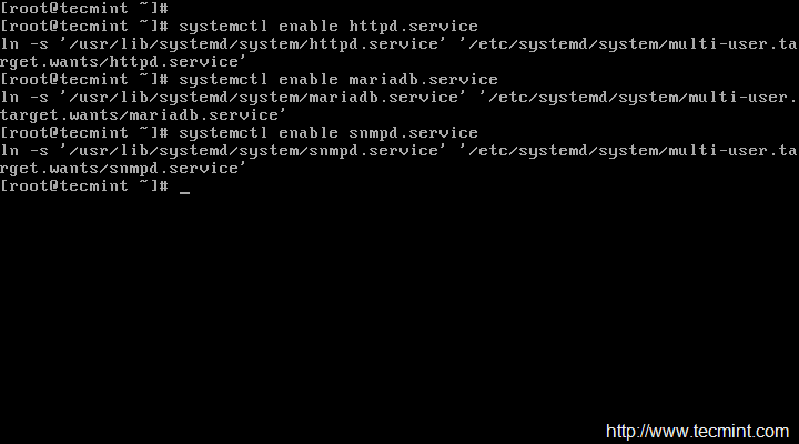 Enable Services at Boot in CentOS 7