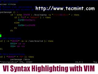 Syntax-Highlighting in VI Editor