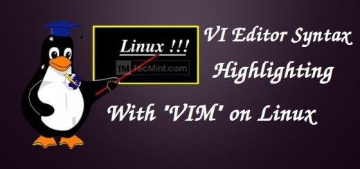 VI Syntax Highlighting in Linux