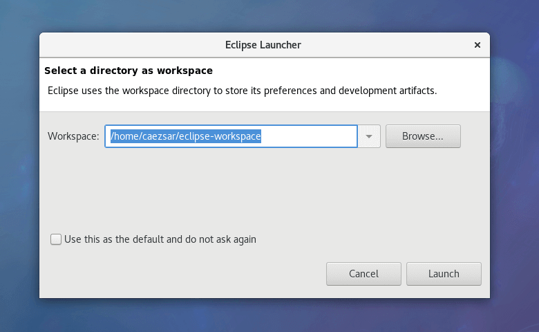 Add Eclipse Oxygen IDE Workspace