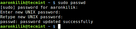 Change Root Password in Ubuntu