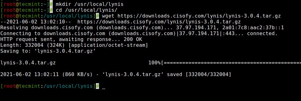 Descargue la herramienta de auditoría Lynis Linux