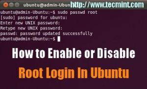 Enable Root Login in Ubuntu