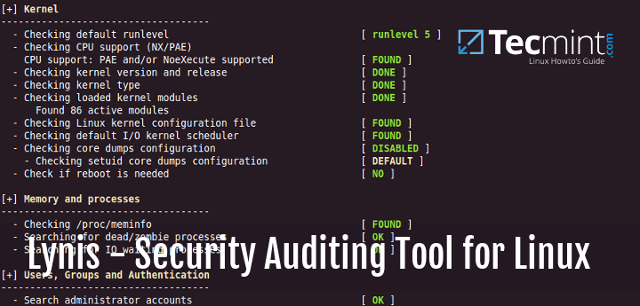 Linux Security Auditing and Scanning