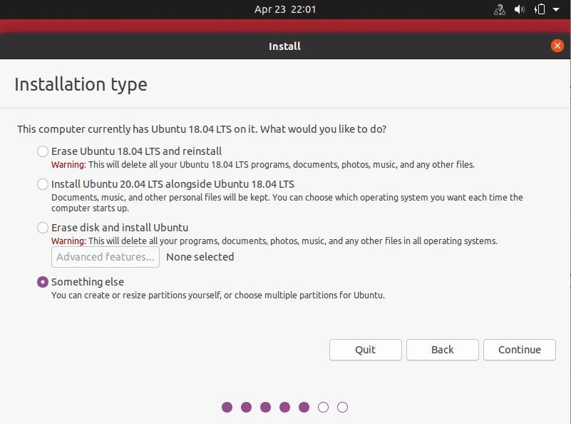 Choose Installation Type
