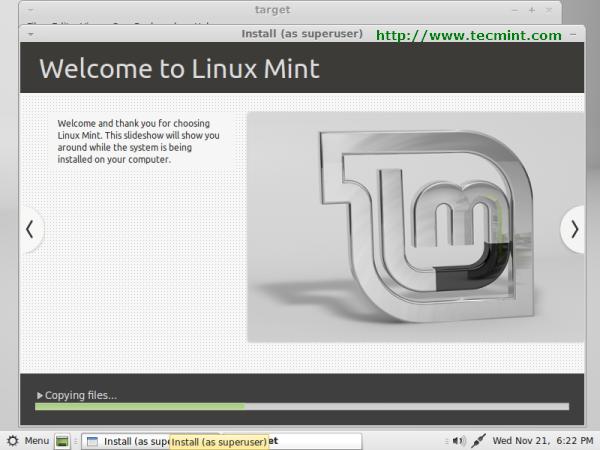 Linux Mint 13 Installation Process