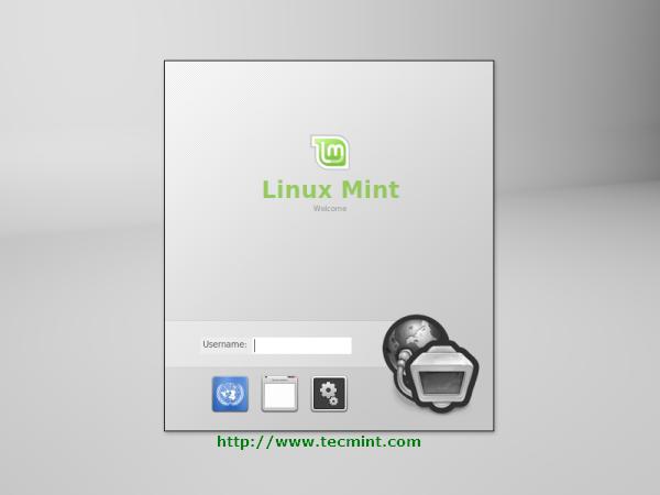 Linux Mint 13 Login Screen