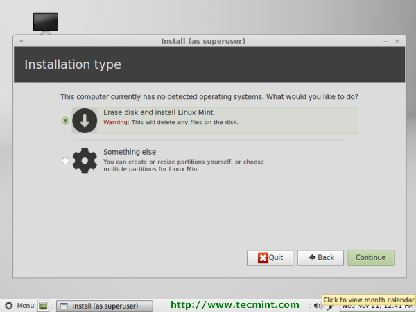 Linux Mint 13 Partition
