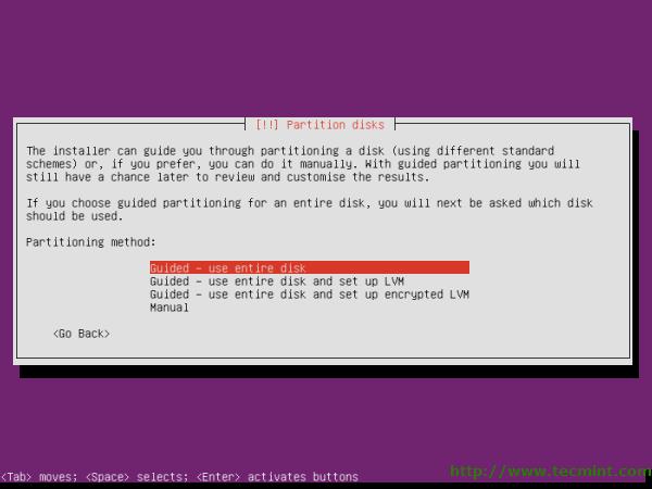Select Ubuntu Disk Partition