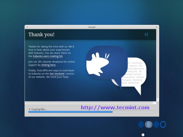 Xubuntu 12.10 Installation Progress