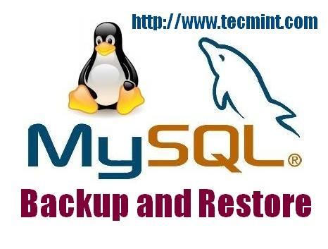 How to Back Up and Restore a MySQL Database