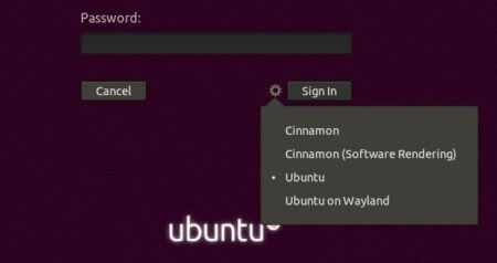 Select Cinnamon Desktop Option