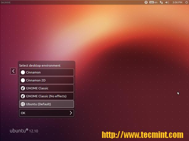 Select Cinnamon Desktop