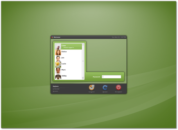 Linux Mint Display Manager MDM