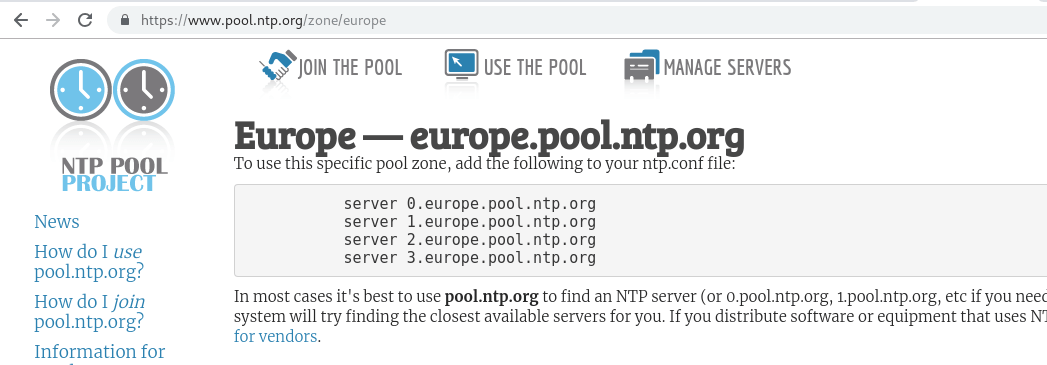 NTP Pools from Europe